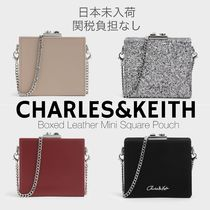Charles&Keith Casual Style 2WAY Chain Plain Leather Party Style