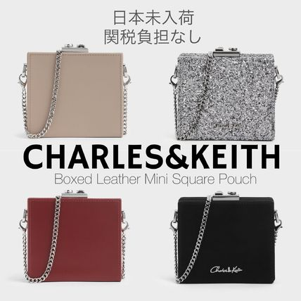 Charles&Keith Crossbody Glitter Formal Style  Casual Style 2WAY Chain