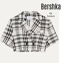 Bershka Short Other Plaid Patterns Casual Style Medium Jackets