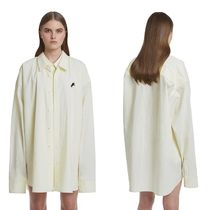 TRUNK PROJECT Unisex Street Style Plain Oversized Logo Shirts