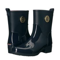 Tommy Hilfiger Street Style Plain Logo Rain Boots Boots