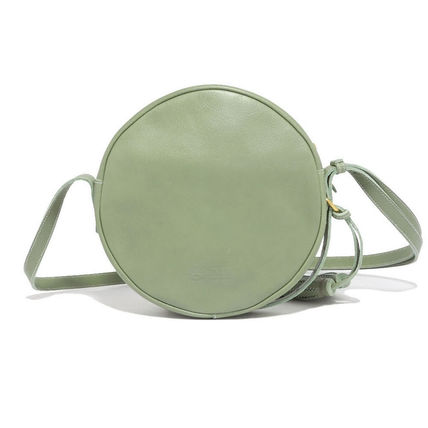 Casual Style Unisex Plain Leather Crossbody Shoulder Bags