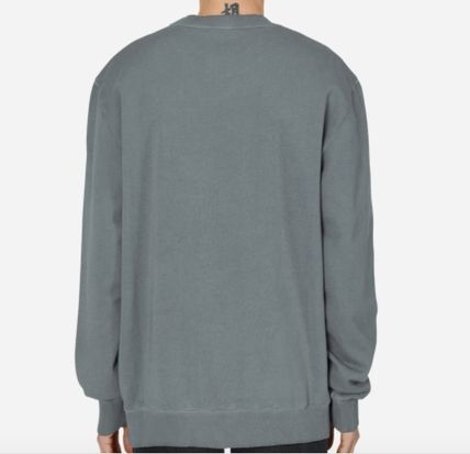 Crew Neck Pullovers Street Style Long Sleeves Logo