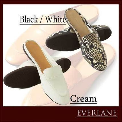 Casual Style Plain Other Animal Patterns Leather Mules
