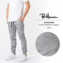 Ron Herman Glen Patterns Street Style Cotton Logo Joggers & Sweatpants