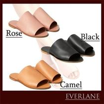 Everlane Casual Style Plain Leather Mules Sandals Sandal