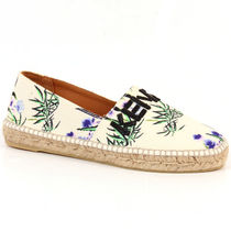 KENZO Flower Patterns Casual Style Street Style Logo Slip-On Shoes