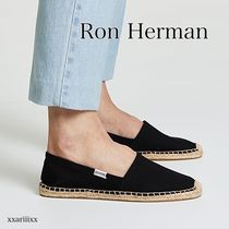 Ron Herman Round Toe Rubber Sole Casual Style Plain Slip-On Shoes