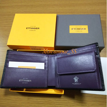 Unisex Bi-color Plain Leather Handmade Folding Wallet Logo