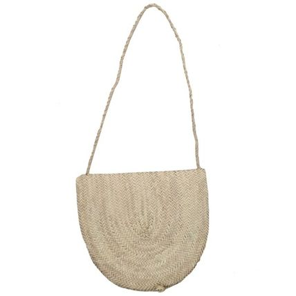 Plain Crossbody Straw Bags