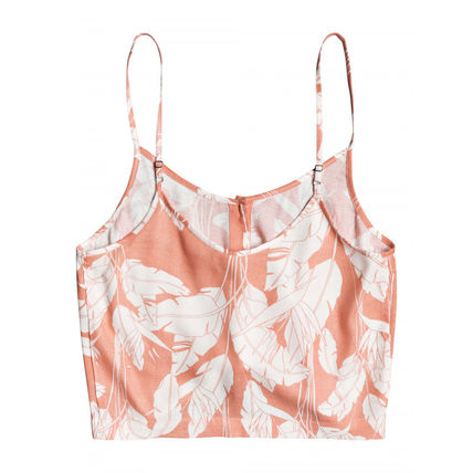 ROXY Flower Patterns Casual Style Elegant Style Tanks & Camisoles