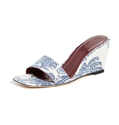 Tropical Patterns Open Toe Square Toe Casual Style