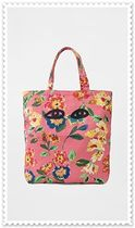 CLARE VIVIER Flower Patterns Casual Style Shoulder Bags
