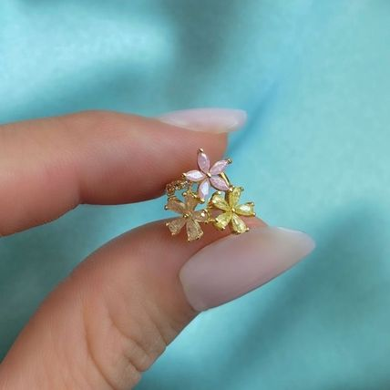 Flower Party Style 18K Gold Office Style Elegant Style