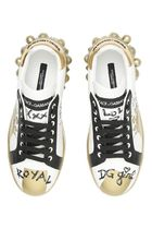Dolce & Gabbana Rubber Sole Casual Style Blended Fabrics Studded