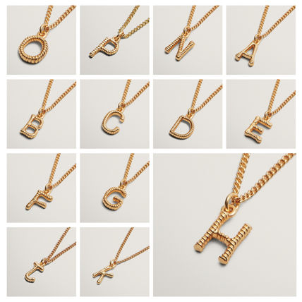 Casual Style Initial Party Style 18K Gold Office Style