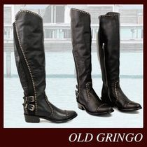 OLD GRINGO Cowboy Boots Round Toe Casual Style Leather Block Heels