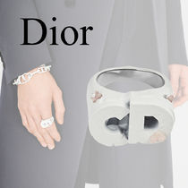 Christian Dior Unisex Street Style Collaboration Logo Rings