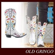 OLD GRINGO Cowboy Boots Casual Style Leather Block Heels Handmade