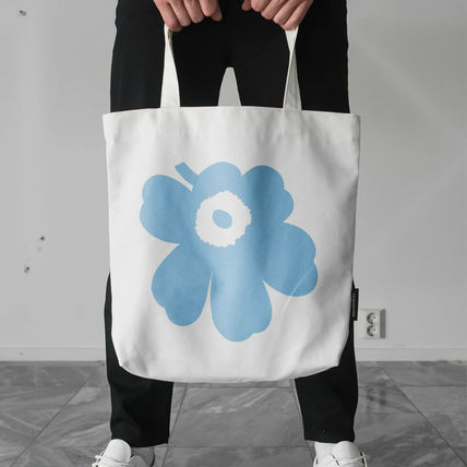 Flower Patterns Casual Style Unisex Street Style Totes