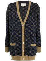 GUCCI Casual Style Wool Street Style Long Sleeves Medium Cardigans