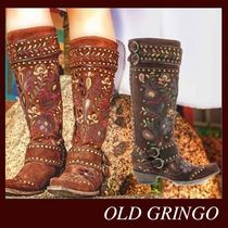 OLD GRINGO Cowboy Boots Round Toe Casual Style Studded Leather
