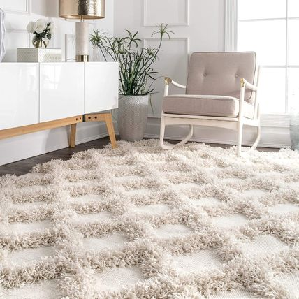 Plain Scandinavian Style Icy Color Carpets & Rugs