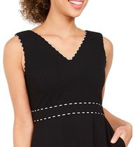 Calvin Klein A-line Sleeveless V-Neck Plain Medium Party Style