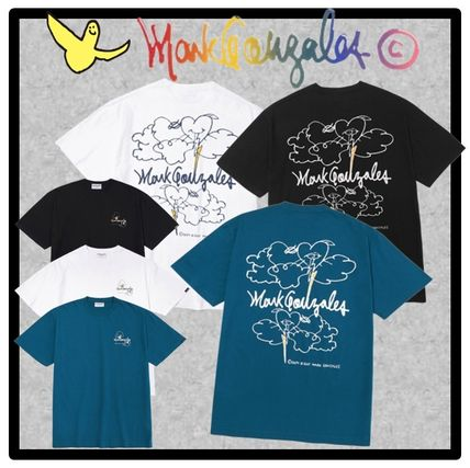 Mark Gonzales Unisex Street Style Short Sleeves T-Shirts