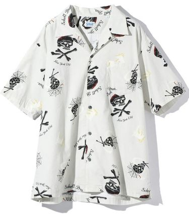 Skull Street Style Short Sleeves Shirts