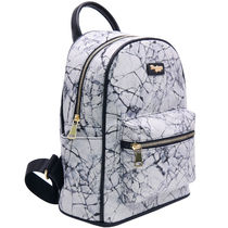 ZALORA Tropical Patterns Casual Style Faux Fur 2WAY Backpacks