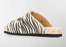 MANEBI Zebra Patterns Open Toe Elegant Style Sandals Sandal