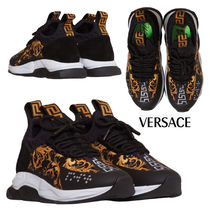 VERSACE Casual Style Street Style Low-Top Sneakers