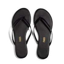 TKEES NUDES Rubber Sole Casual Style Plain Leather Flip Flops