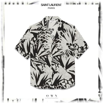 Saint Laurent Shirts Button-down Short Sleeves Luxury Shirts