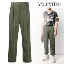 VALENTINO Plain Logo Cropped Pants