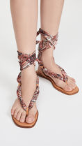 Alice+Olivia Square Toe Lace-up Casual Style Tribal Elegant Style