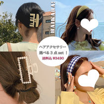 Casual Style Party Style Office Style Khaki Hair Accessories