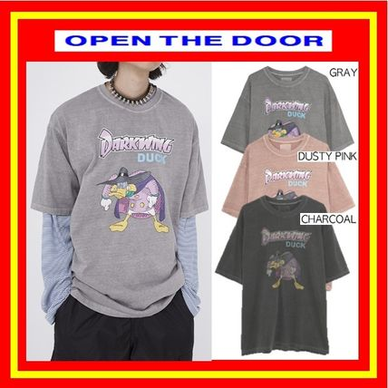 OPEN THE DOOR More T-Shirts Pullovers Unisex Street Style U-Neck Cotton Short Sleeves