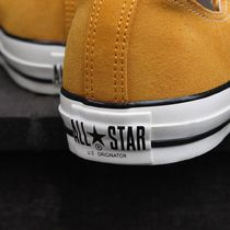 CONVERSE ALL STAR Rubber Sole Lace-up Casual Style Unisex Suede Plain Logo