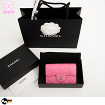 CHANEL MATELASSE Leather Coin Cases