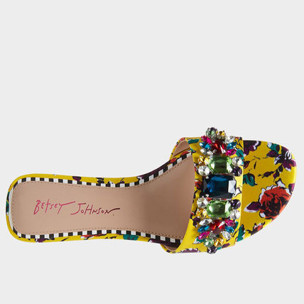 Flower Patterns Open Toe Casual Style Office Style