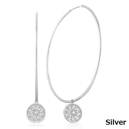 Casual Style Coin Party Style Silver Office Style