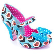 Irregular Choice Dots Round Toe Casual Style High Heel Pumps & Mules