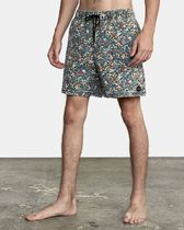 RVCA Printed Pants Flower Patterns Street Style Joggers Shorts