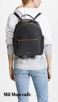 CALPAK Casual Style Faux Fur Plain Logo Backpacks