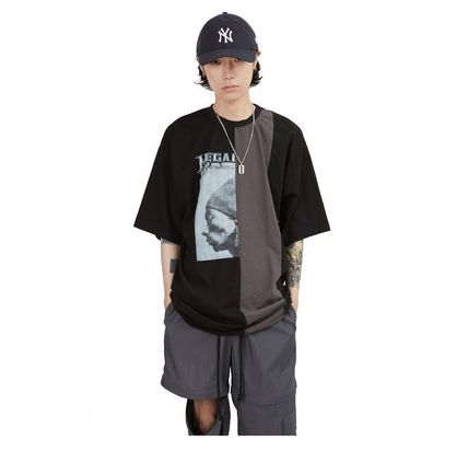 Raucohouse More T-Shirts Cotton Short Sleeves Oversized Logo T-Shirts