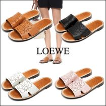 LOEWE Leather Logo Sandals Sandal
