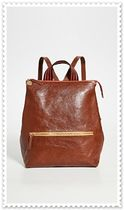 CLARE VIVIER Casual Style Plain Leather Backpacks