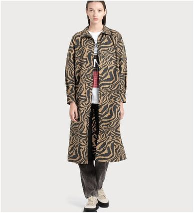 Zebra Patterns Long Elegant Style Coats